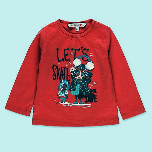 Koszulka z długim rękawem dziewczynka 231017 Boboli