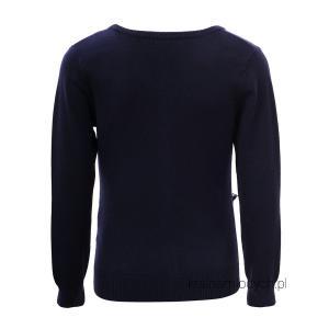 Granatowy sweterek dla dziewczynki