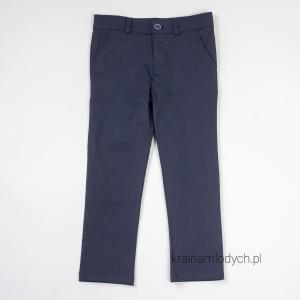 Sportowo eleganckie spodnie chłopięce granatowe