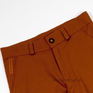 Elegancko sportowe spodnie dla chłopaka camel