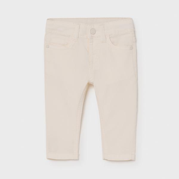 Kremowe spodnie niemowlęce slim fit 506 Mayoral
