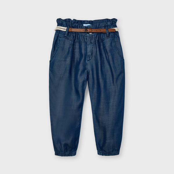 Długie spodnie z paskiem Ecofriends dla dziewczynki 3552 Mayoral