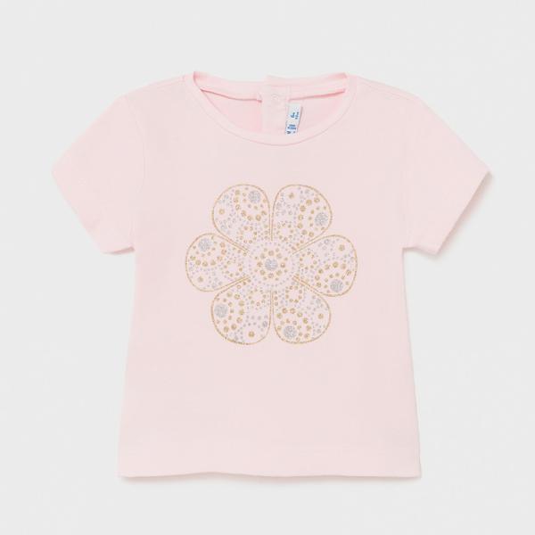 Bluzeczka z brokatowym nadrukiem dla dziewczynki 105 Mayoral