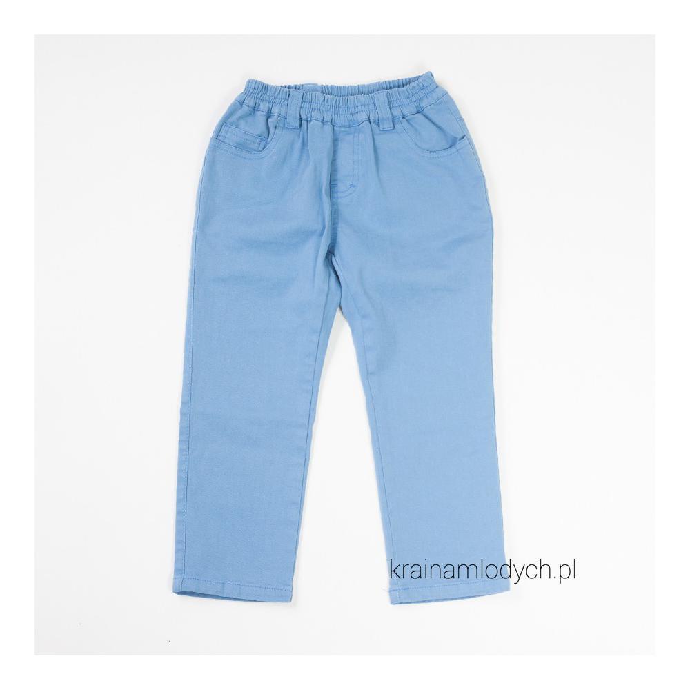 Spodnie chłopięce na gumce niebieskie 013-07/014-07