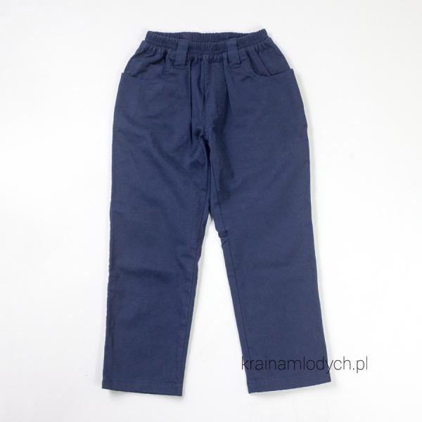 Spodnie chłopięce na gumce granatowe 014-07