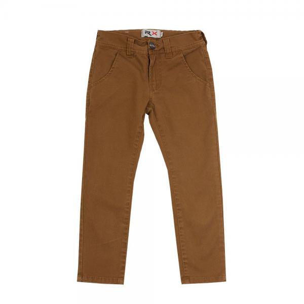 Spodnie rurki chłopięce musztardowe 026-14/027-14