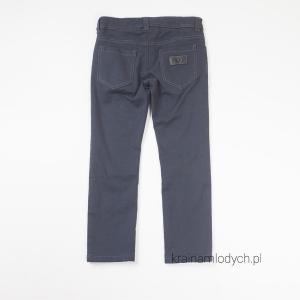 Spodnie rurki chłopięce ciemno szare