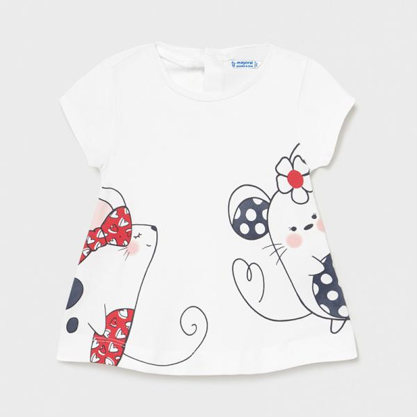 Koszulka dla dziewczynki ECOFRIENDS Baby 1088  Mayoral