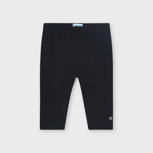 Krótkie czarne legginsy dziewczęce basic 723 Mayoral