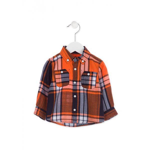 Koszula chłopięca w kratkę Losan 827-3001AC