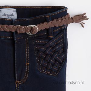 Spodnie dziewczęce z paskiem