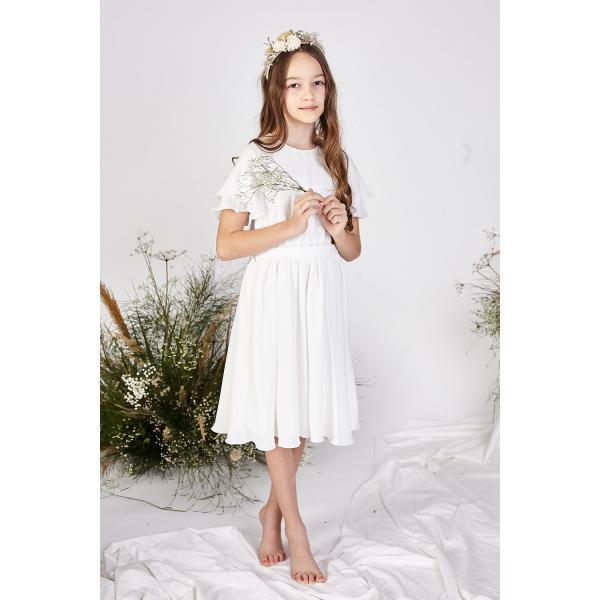 Elegancka sukienka z koronką Leonia