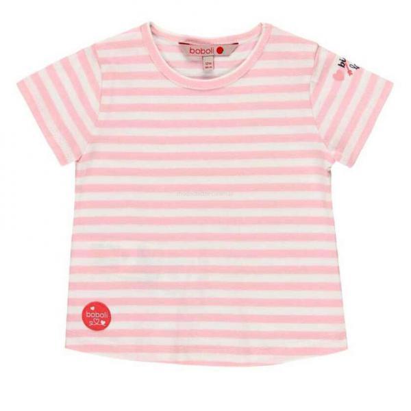 Koszulka w paski dla dziewczynki 212049 Boboli