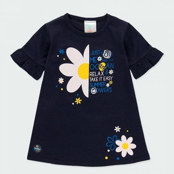 Bawełniana sukienka z kwiatami 202082 Boboli
