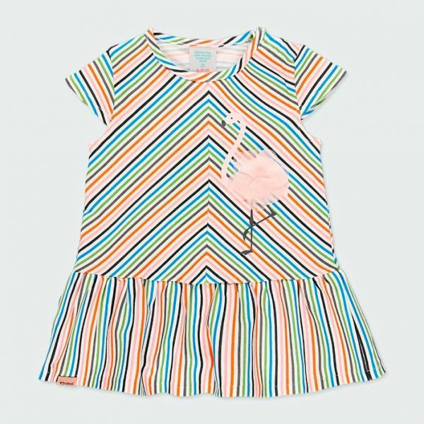 Sukienka w paseczki z aplikacją 222073 Boboli