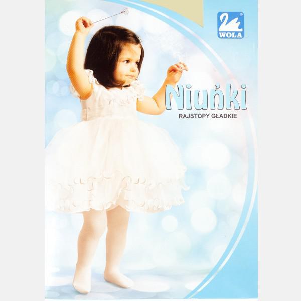 Kremowe rajstopy niemowlęce Niuńki 0-2 Lata  WOLA