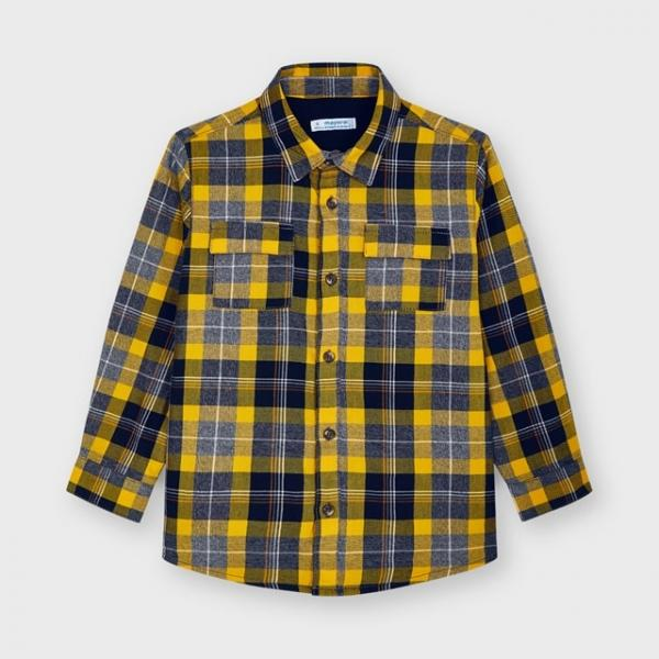 Ciepła koszula w kratkę z podszewką dla chłopca 4162 Mayoral