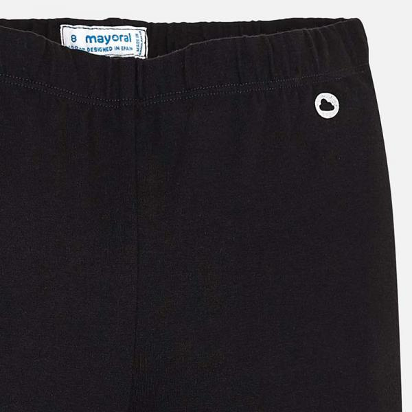 Długie czarne legginsy dziewczęce basic 722 Mayoral