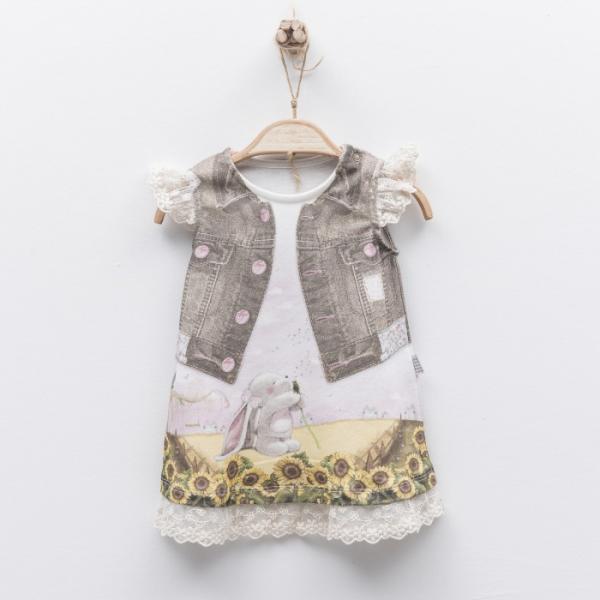 Bawełniana sukienka niemowlęca Feyza