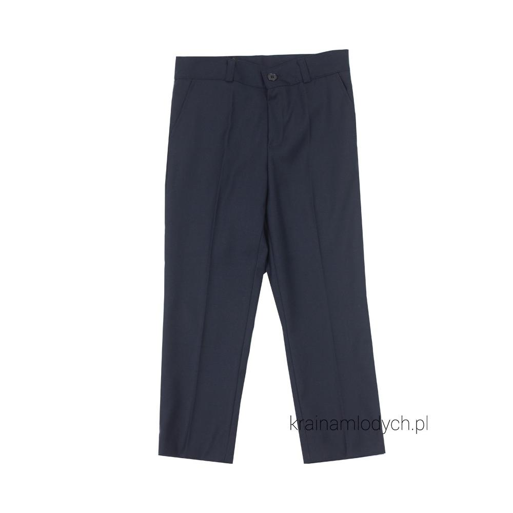 Spodnie garniturowe granatowe