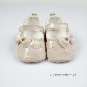 Lakierki niemowlęce beżowe