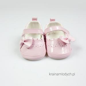 Różowe baletki niemowlęce