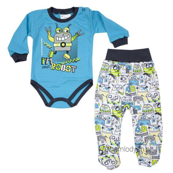 Komplet niemowlęcy body + śpioch