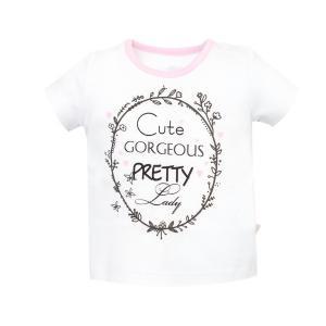 Biała bluzeczka dla dziewczynki Pretty