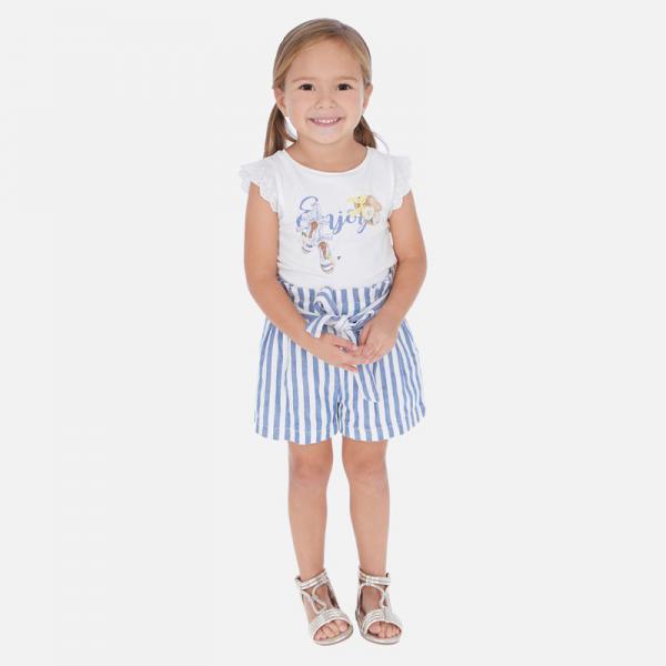 Krótkie spodnie dla dziewczynki 3278 MAYORAL