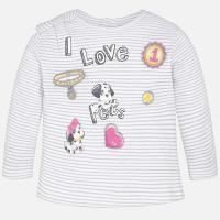 Koszulka dla dziewczynki z długim rękawem Mayoral 1065