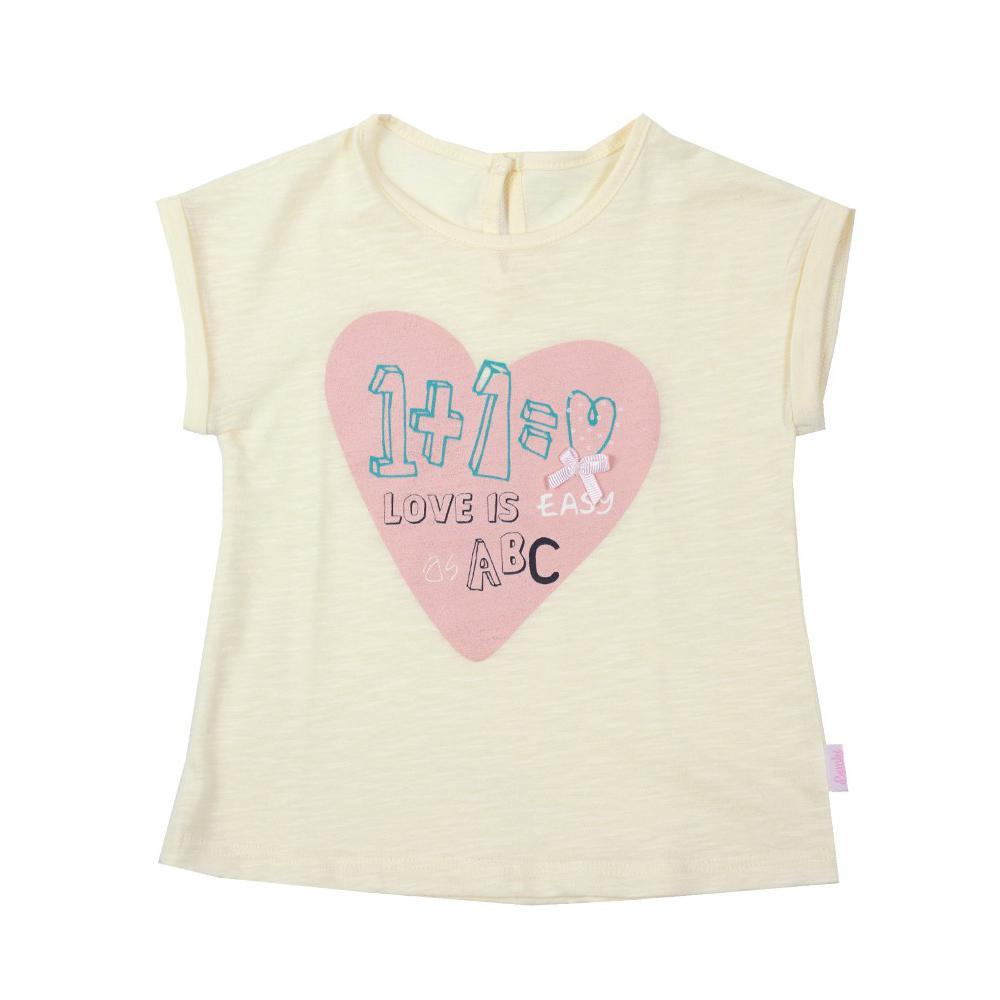 Bluzeczka dziewczęca z serduszkiem