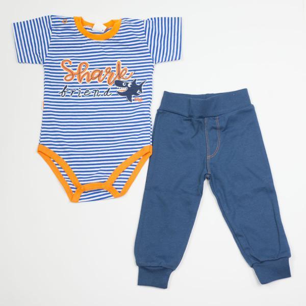 Komplet niemowlęcy body + spodnie Rekinek