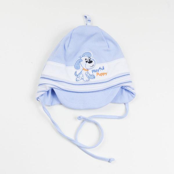 Niemowlęca czapka z daszkiem Playful Puppy niebieska