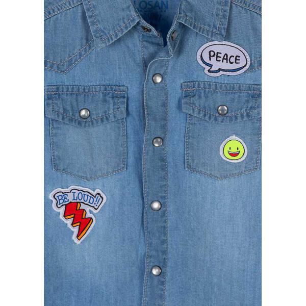 Koszula jeansowa dla chłopca Losan 817-3004AC