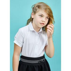 Biała koszula dziewczęca z koronkowym kołnierzykiem Marika Al-Da