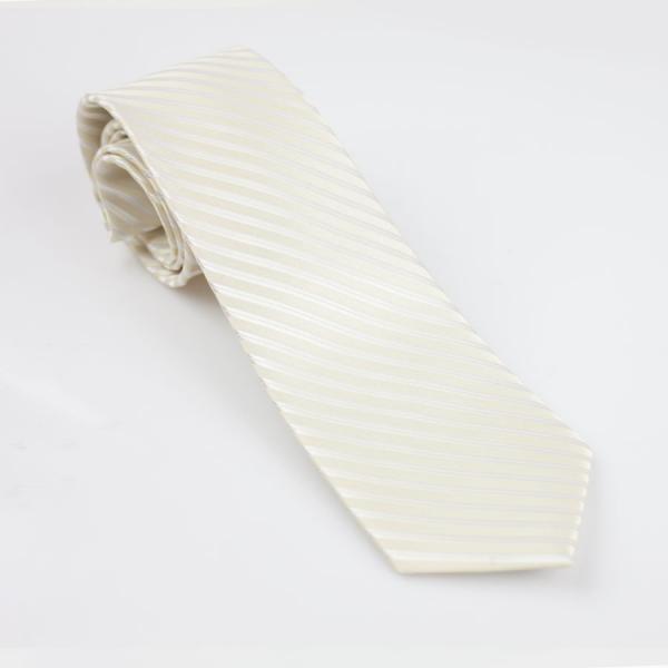 Krawat młodzieżowy kremowy