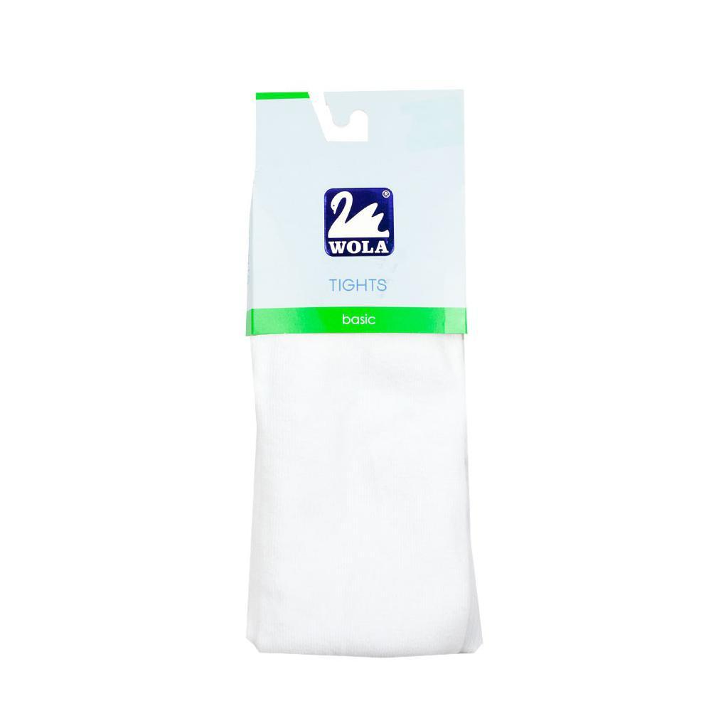 Białe rajstopy bawełniane grube basic 394B, 400B