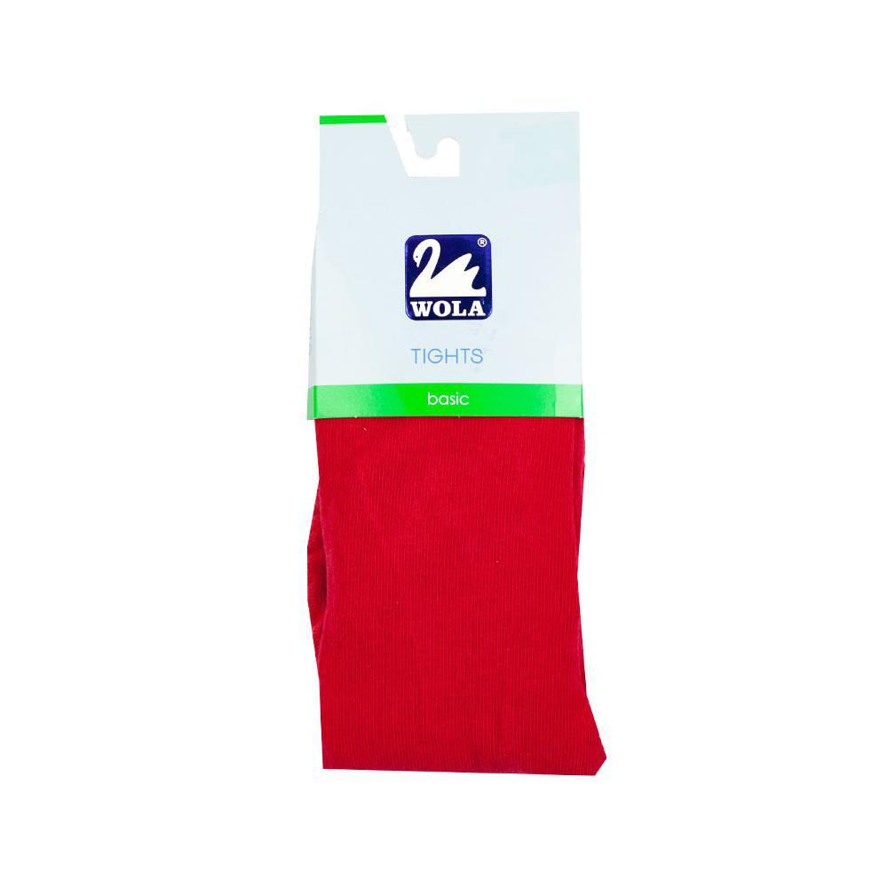 Czerwone rajstopy bawełniane grube basic 394C, 400C
