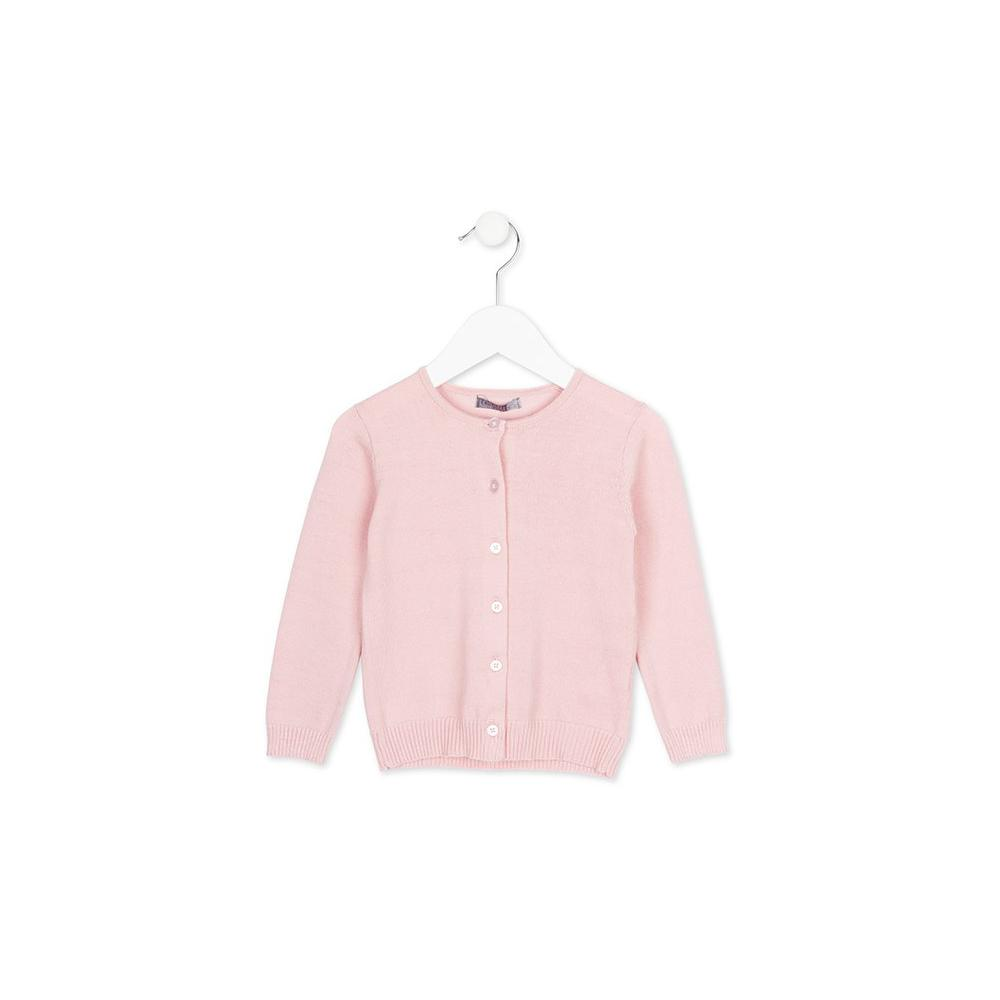 Sweter rozpinany różowy Losan x26-5004AB