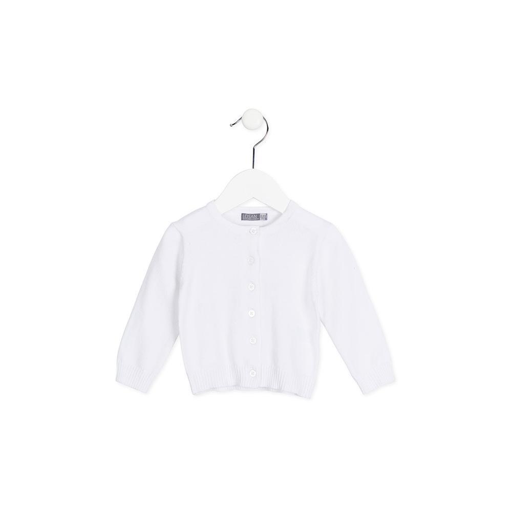 Biały sweterek rozpinany LOSAN X28-5004AD