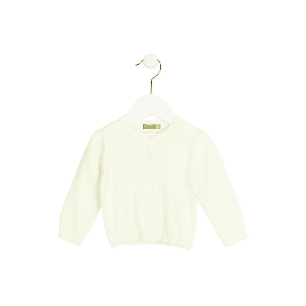 Kremowy sweterek rozpinany LOSAN X28-5004AD