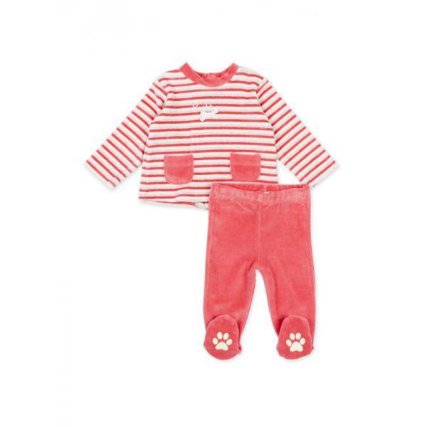 Komplet welurowy niemowlęcy Losan 72W-8022AD