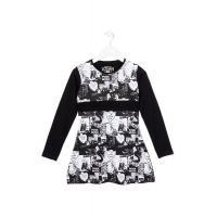 Sportowa sukienka z printem Losan 724-7000AB