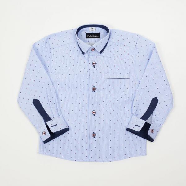 Elegancka koszula chłopięca w niebieski prążek BIKS