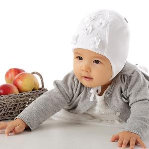 Czapka niemowlęca biała Milka