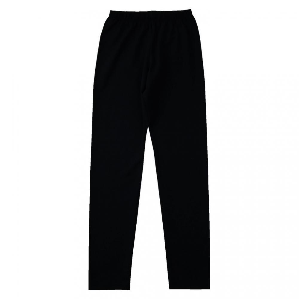 Gładkie bawełniane leginsy czarne 5806
