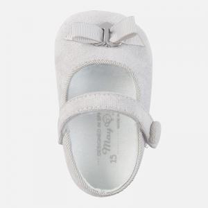 Szare baletki niemowlęce 9640 Mayoral