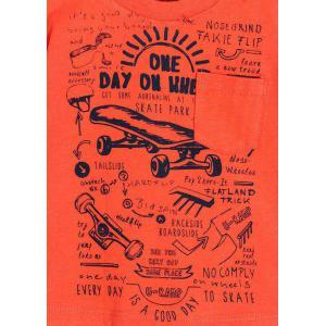 Koszulka chłopięca skate pomarańczowa Losan
