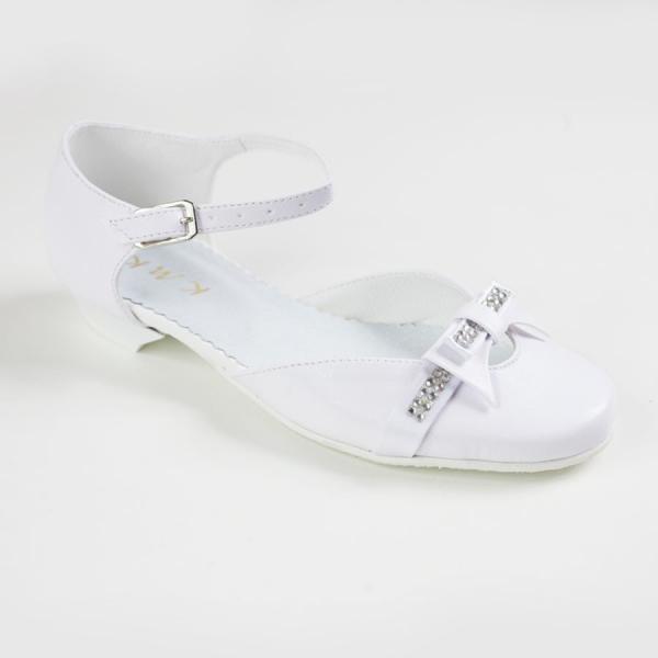 Białe czółenka dla dziewczynki KMK 119