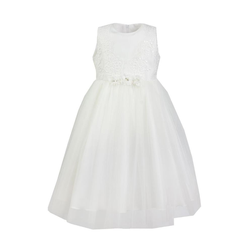 Strojna sukienka z koronkową górą Celin